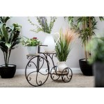 Farmhouse 23 Inch Antique Bronze Bicycle Plant Stand By Studio 350 On Sale Overstock 9204448