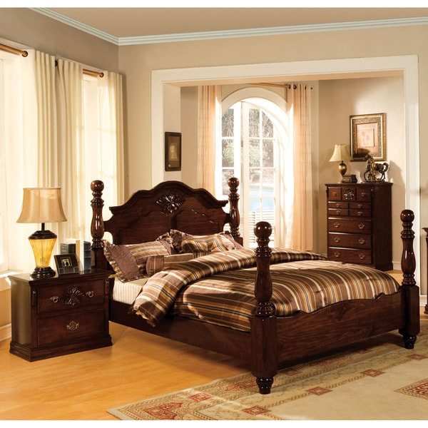 Shop Furniture Of America Weston Traditional Style Glossy