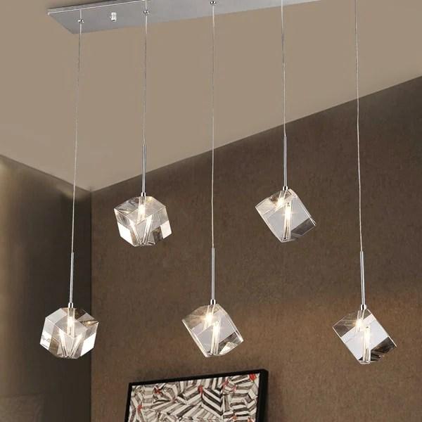 Firefly Floating Crystal 5 Light Dangling Pendant