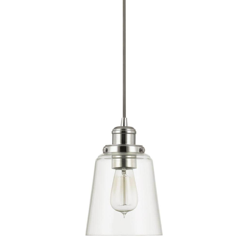 Urban Theme Polished Nickel With Clear Glass 1 Light Mini