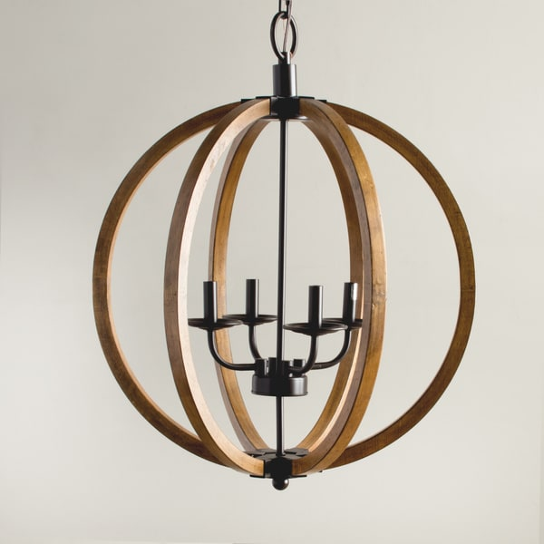 Vineyard Distressed Mahogany And Bronze 4 Light Orb Chandelier Free Shipping Today 16602872