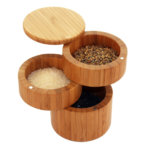 Totally Bamboo 3 Tiered Salt Box Free Shipping On Orders