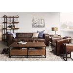 Aurelle Home Brown Leather Lounge Accent Chair 29 5 Wide X 33 Deep On Sale Overstock 9531034