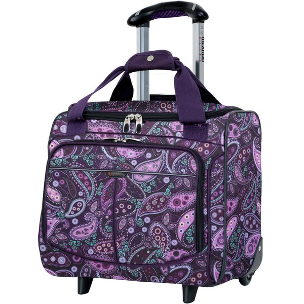Ricardo Beverly Hills Mar Vista Purple Paisley 16 Inch Wheeled Rolling Tote 16719393