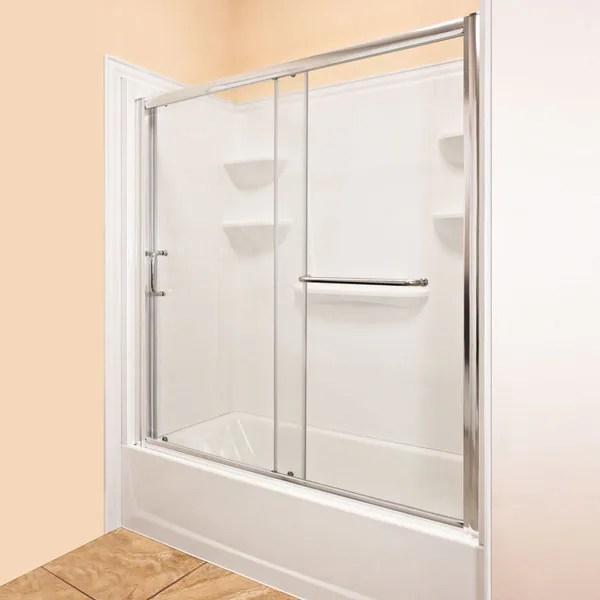LessCare 56 60x58 Inch Chrome Sliding Bathtub Door 16759353 Shopping Big