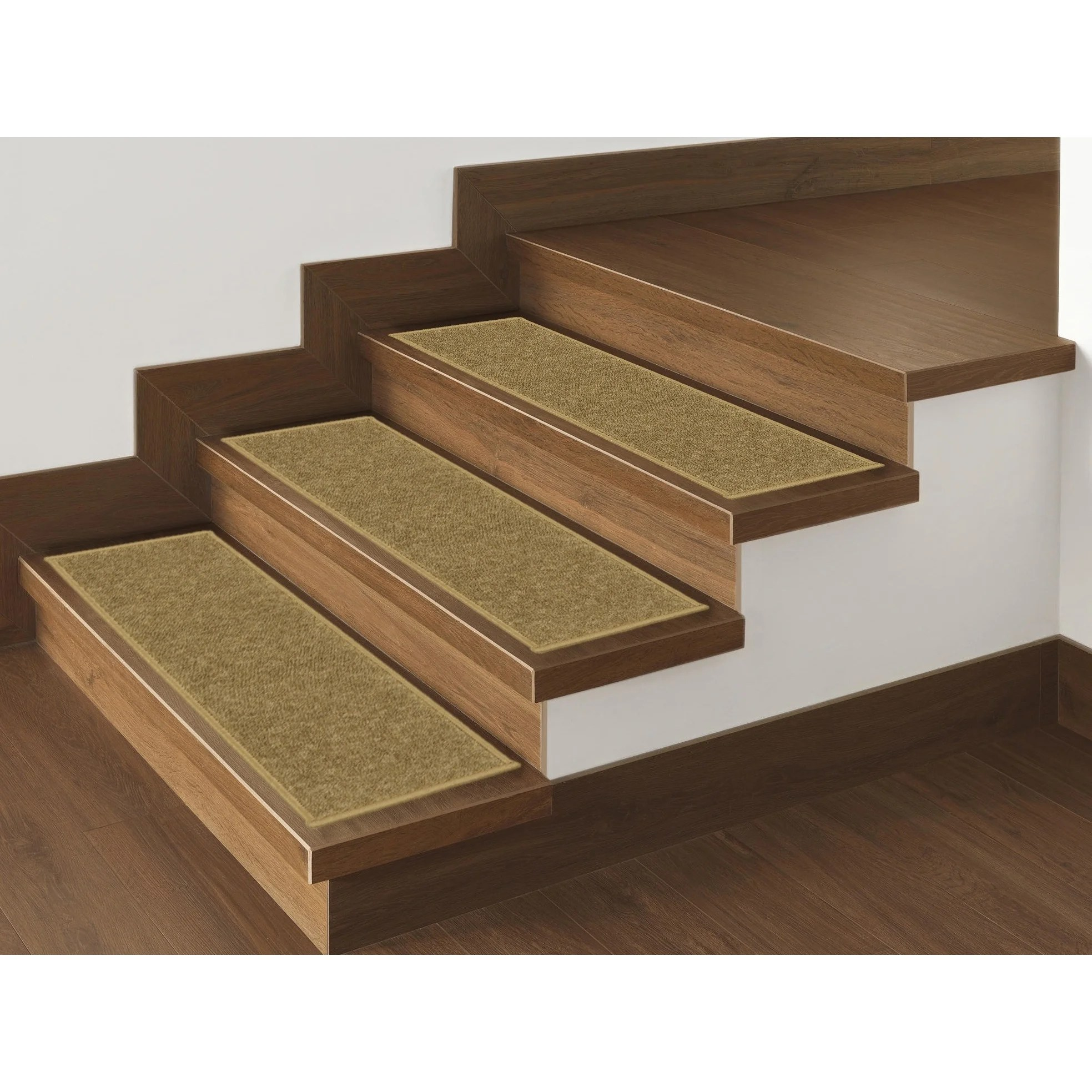 Shop Ottomanson Skid Resistant Non Slip Carpet Stair Treads Set Of 7 On Sale Overstock 9610498