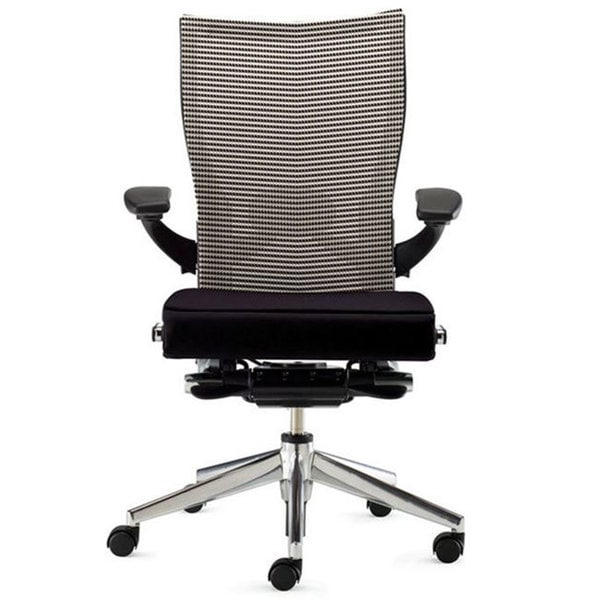 haworth x99 mesh task chair black seat storm fabric back 3d arms