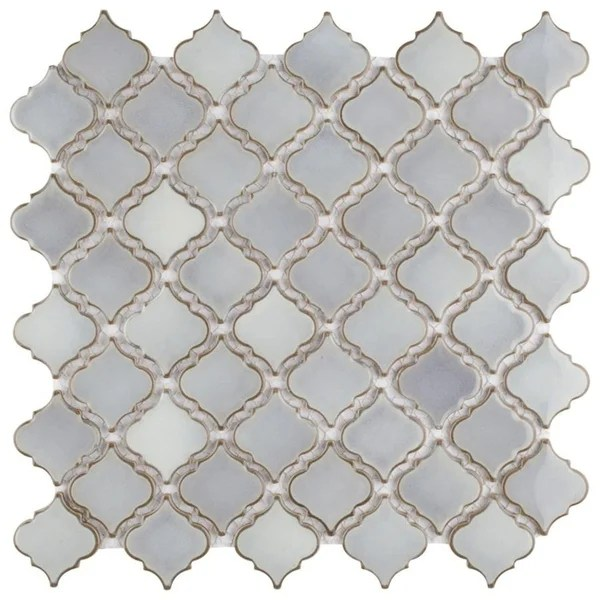 grey arabesque tile find great home