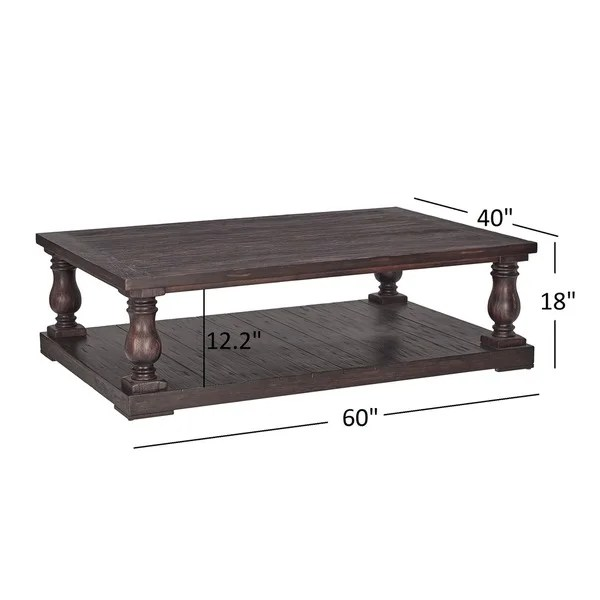 edmaire rustic baluster 60 inch coffee