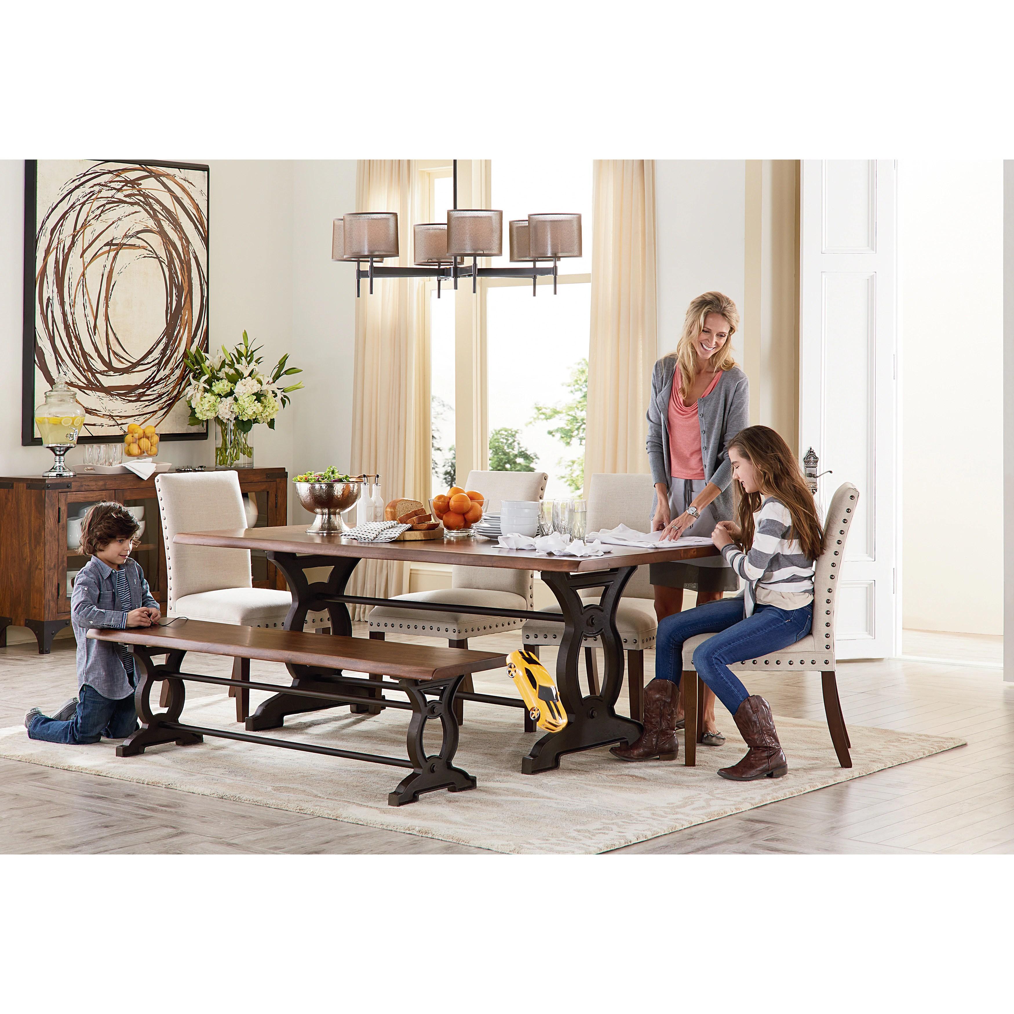 art van natural loft dining table