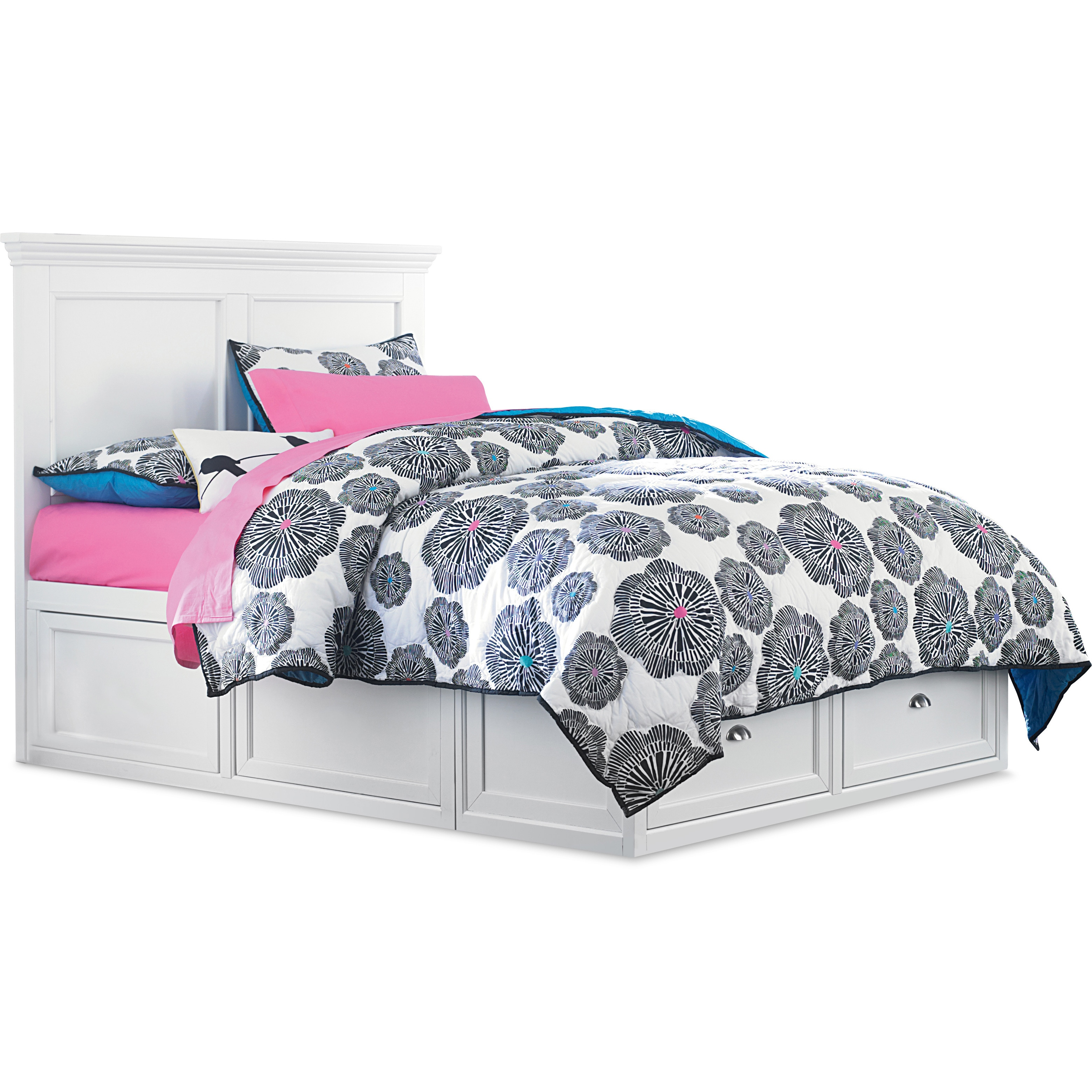 art van abbott collection full size panel bed with storage