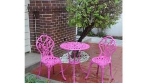 Shop Somette Pink Tulip Cast Aluminum Outdoor 3 Piece