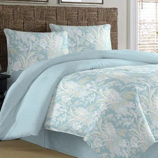 Shop Tommy Bahama Tiki Bay Silver Blue Cotton 4 Piece Comforter Set Free Shipping Today