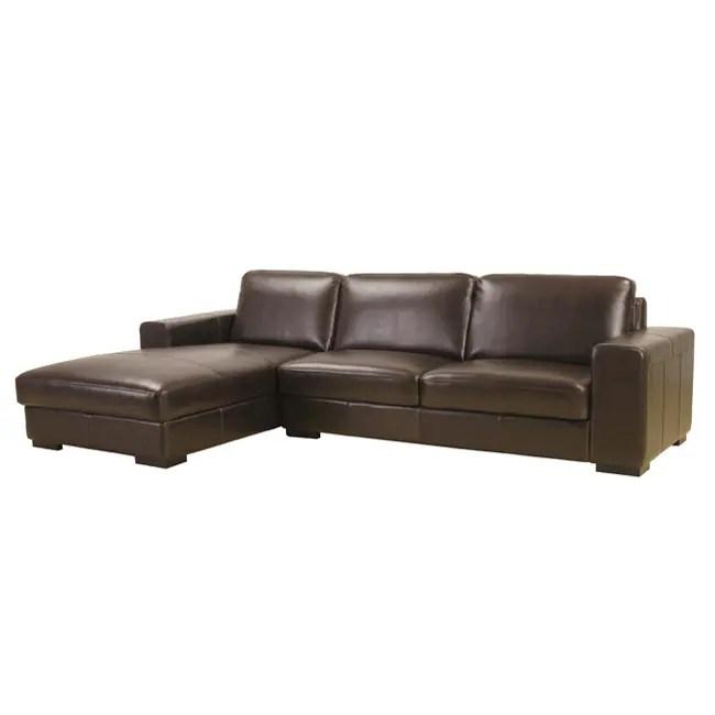 Dana Brown Bi Cast Leather Sectional Sofa 10161063