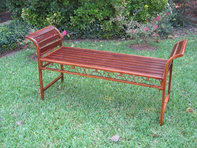 Ottoman Bench Leather Long