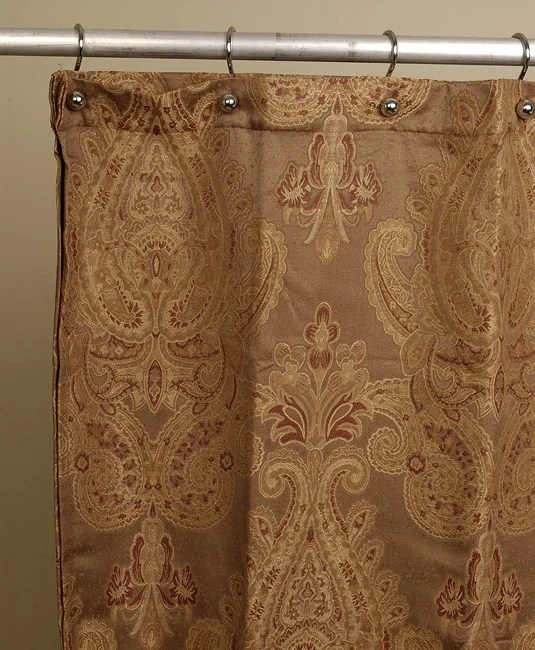 Royal Paisley Jacquard Shower Curtain By Croscill Free Shipping On Orders Over 45 Overstock