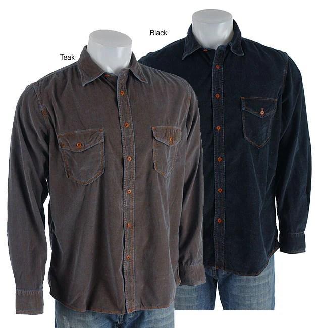 Martin Gordon Men S Long Sleeve Corduroy Shirt 10819193