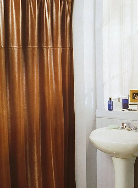 Brown Faux Leather Shower Curtain 11126830 Shopping Great Deals On Shower