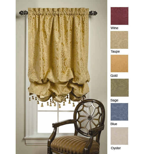 Wellington Damask Balloon Curtain 62 In X 42 In Free Shipping On Orders Over 45