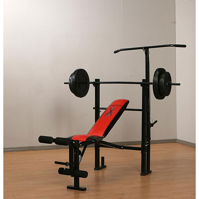 Marcy Weight Bench With 80 Pound Vinyl Weight Set Free