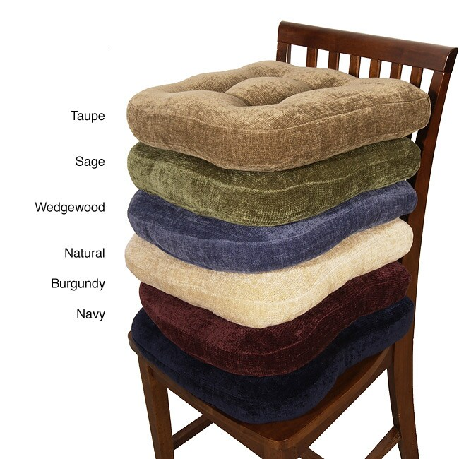 Chenille Non Slip Chair Pads Set Of 4 Overstock Shopping Great Deals On Chair Pads