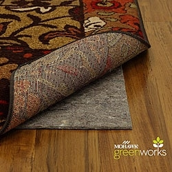 Shop Mohawk Supreme 30 Inch Stair Tread Rug Pads Set Of 13 | 30 Inch Carpet Stair Treads | Sided Tape | Bullnose Wraparound | Machine Washable | Greek Key | Non Skid