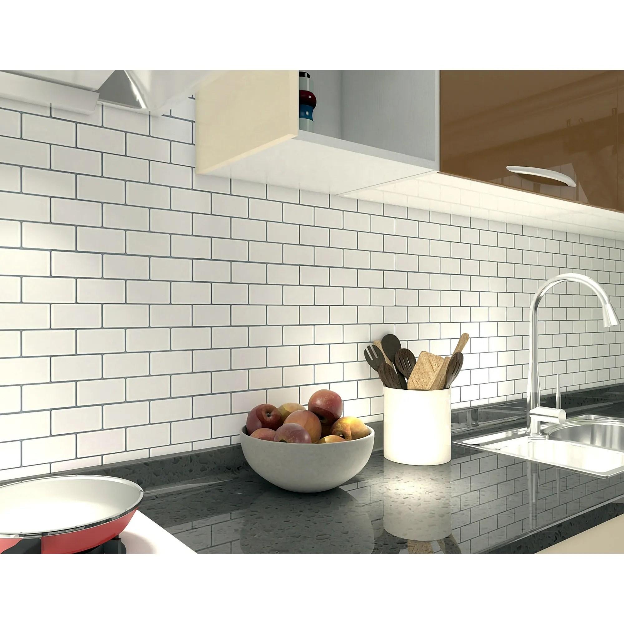 art3d 12 x12 vinyl peel and stick backsplash tile 10 pack floral white