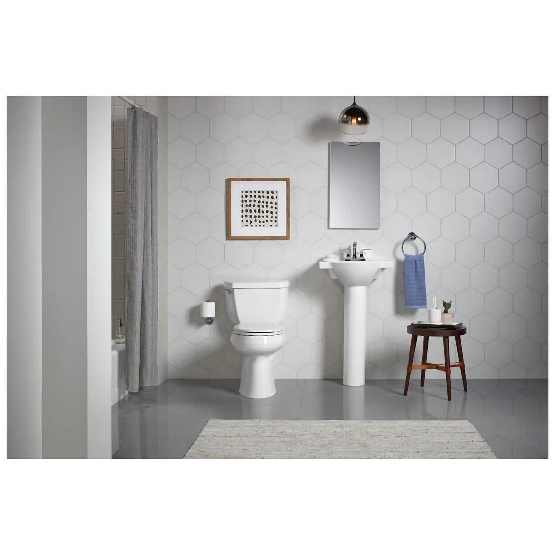 kohler k 5247 4 veer 21 pedestal bathroom sink with three holes