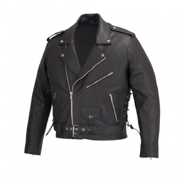 Shop Men Motorcycle Biker Leather Jacket Classic Design