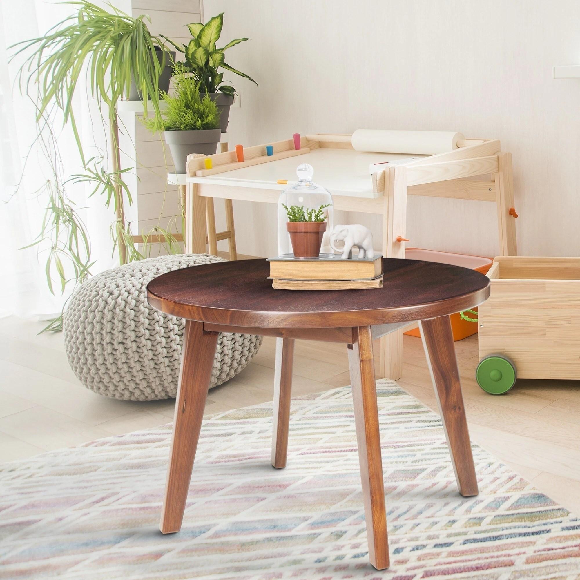 genuine walnut 24 inch round coffee table