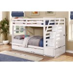 Fortis Twin Over Twin Bunk Bed With Trundle And Storage Steps Overstock 11501922