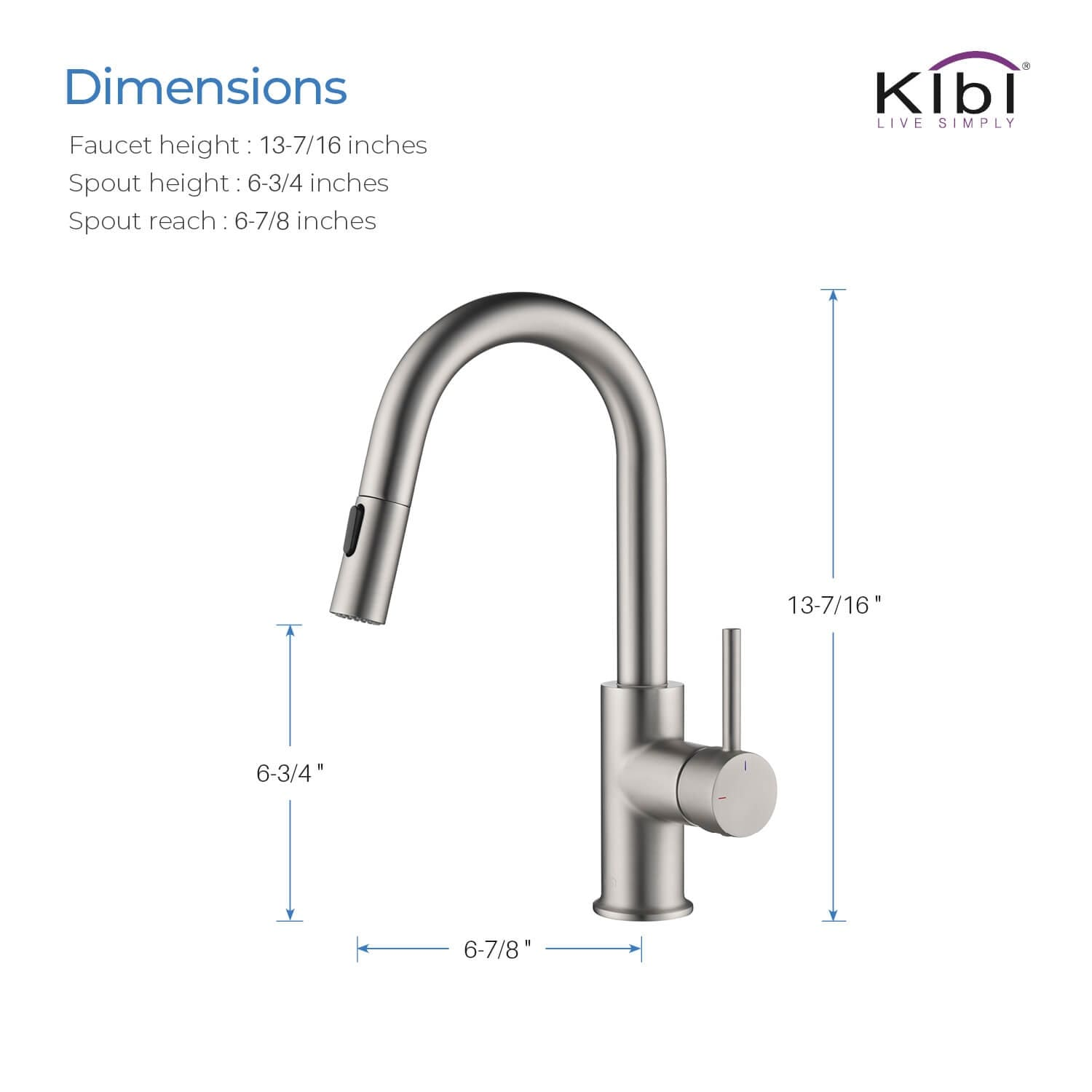 single hole pull down kitchen faucet with sprayer and magnetic docking