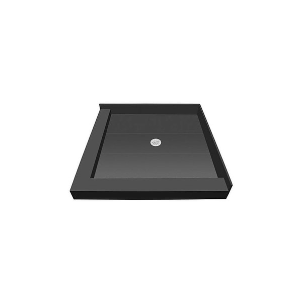 tile redi p4236cdl pvc redi base 42 x 36 rectangular shower base with double threshold and center drain