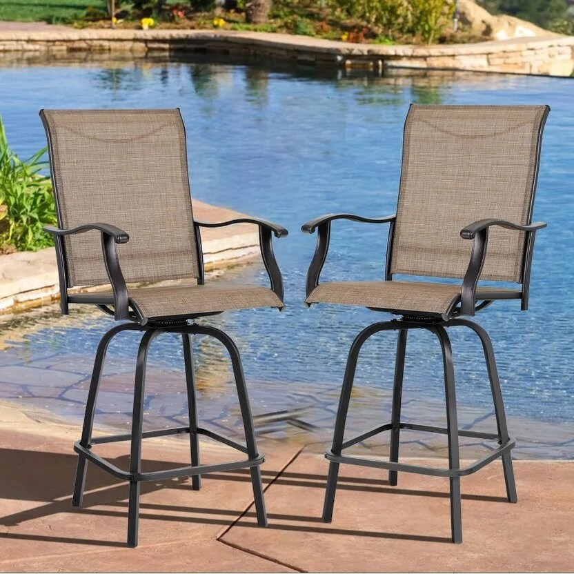 phi villa all weather swivel patio bar stools set of 2 n a