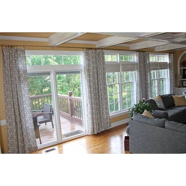 foot patio door curtain rod 240