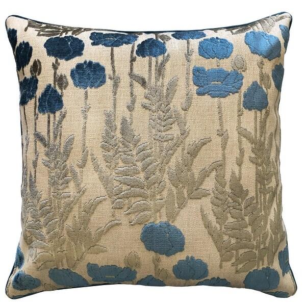 buy blue velvet throw pillows online