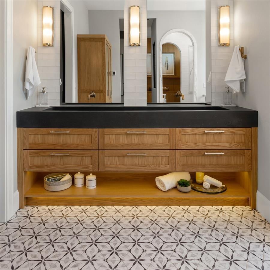 somertile carra bardiglio floral porcelain hexagon floor wall tiles