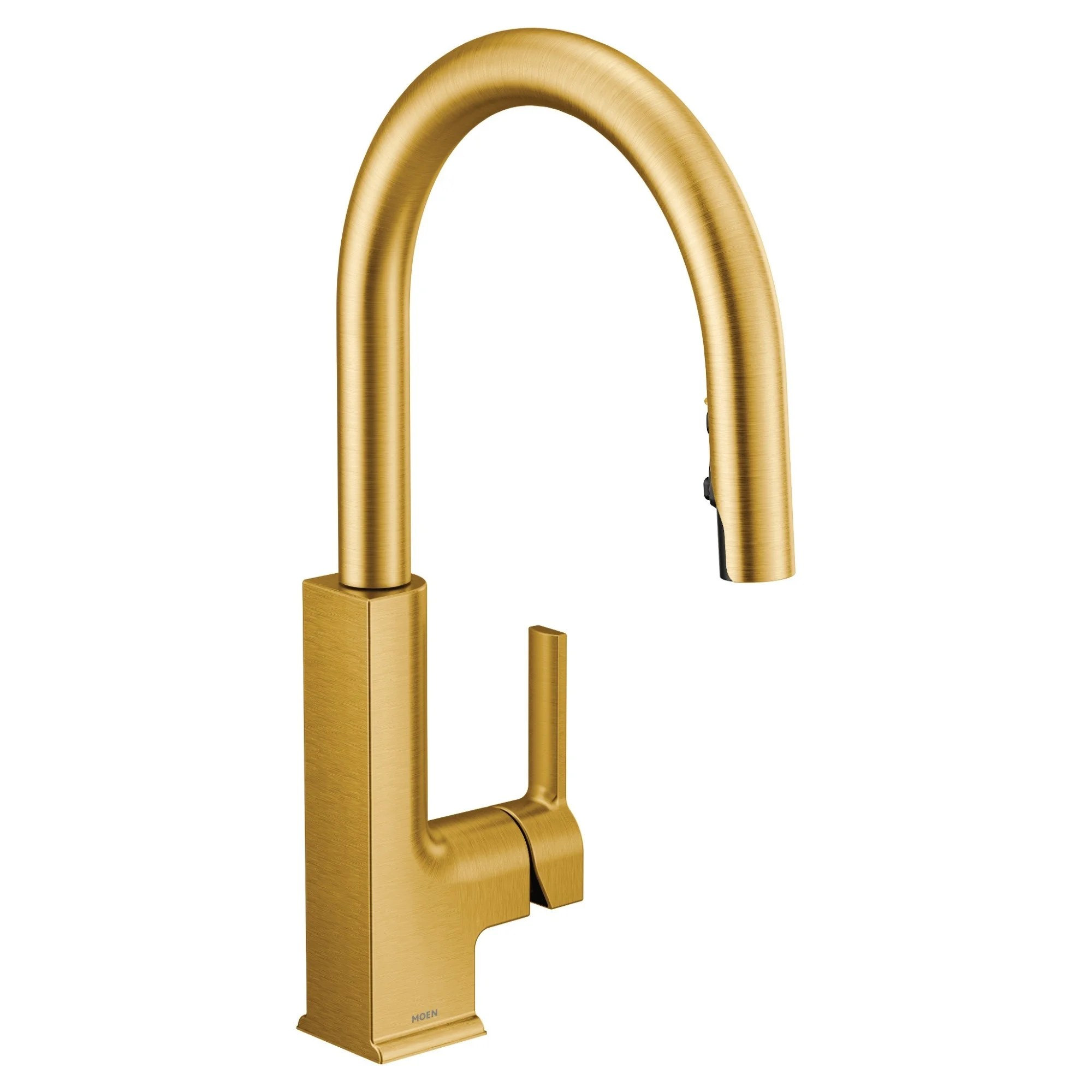moen one handle pulldown kitchen faucet brushed gold s72308bg