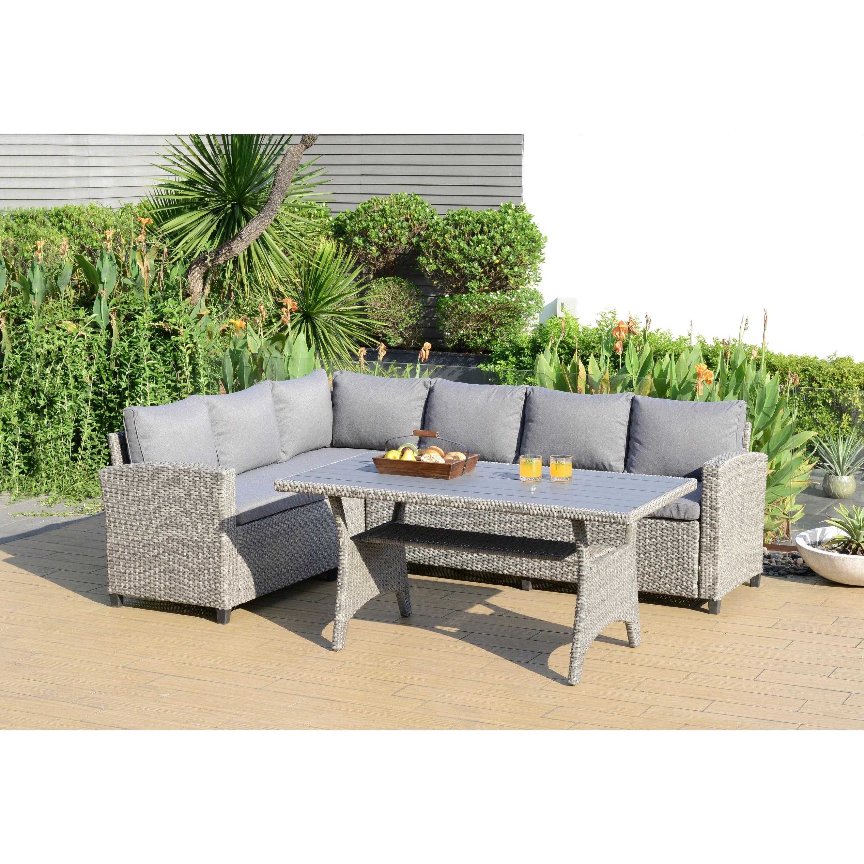 amazonia creme outdoor 3 piece deep patio dining set