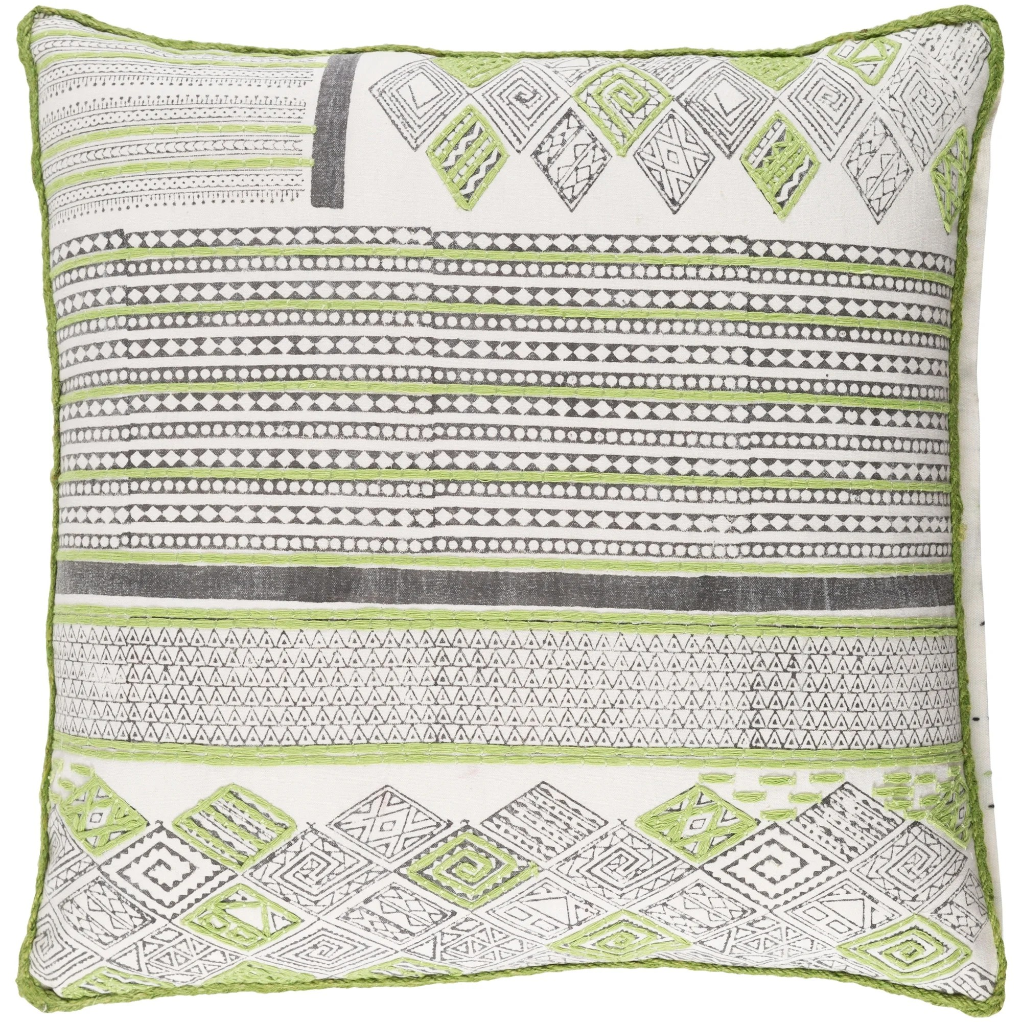 decorative prance lime throw pillow cover 20 x 20