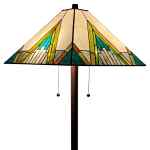 Shop Black Friday Deals On Tiffany Style Mission Floor Lamp 62 Tall Stained Glass Am353fl17 Amora Lighting Multi Color Overstock 30632620