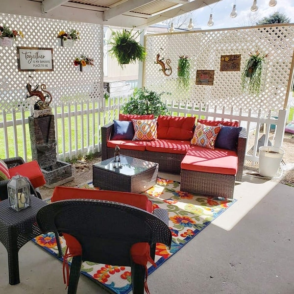 phi villa 3 piece patio furniture set