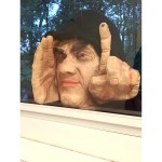Shop Scary Peeper Window Tapping Peeping Tom Creepy Man Halloween Decoration Scary Prank Window Cling 12 In Overstock 28997806