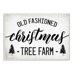 Stupell Industries Rustic Minimal Christmas Tree Farm Black White Wood Wall Art On Sale Overstock 32084457