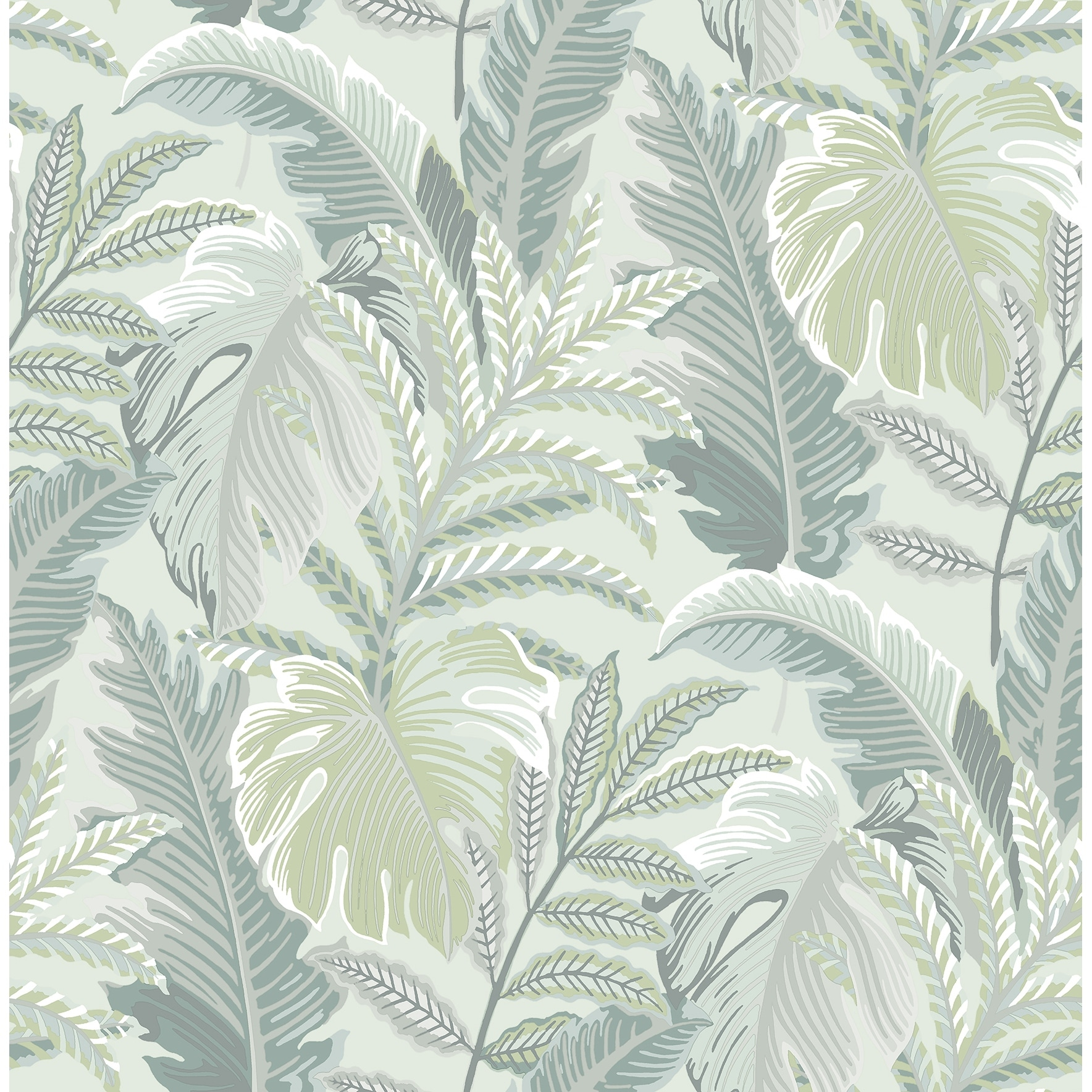 Shop Carter Verdant Grey Botanical Wallpaper On Sale Overstock 31975011