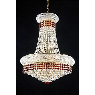 French Empire Crystal Chandelier Chandeliers Lighting Trimmed With Ruby Red Free Shipping Today 21170173