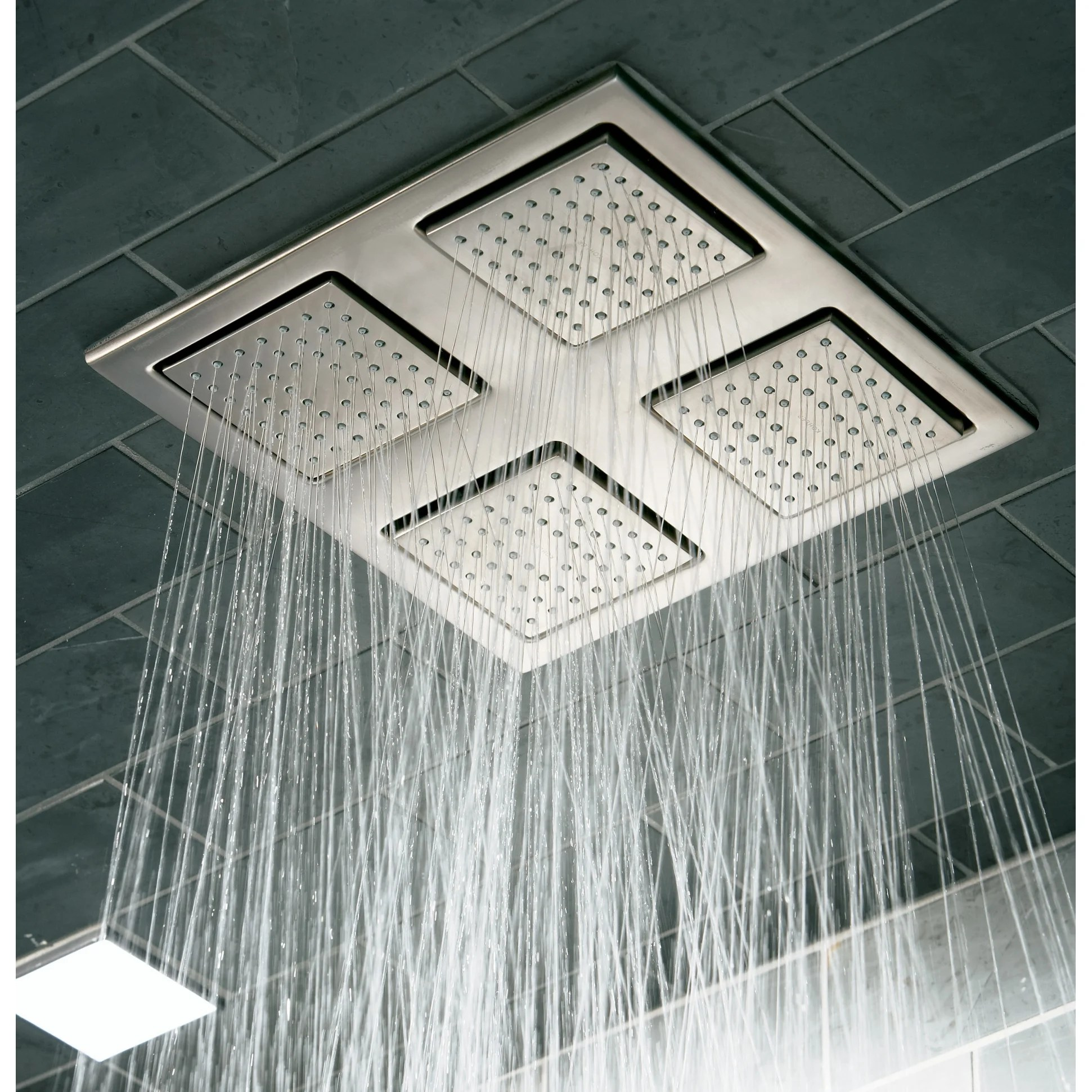 Kohler K 98740 Watertile 2 4 Gpm Ceiling Mount Rainhead With Four 22 Nozzle Sprayheads