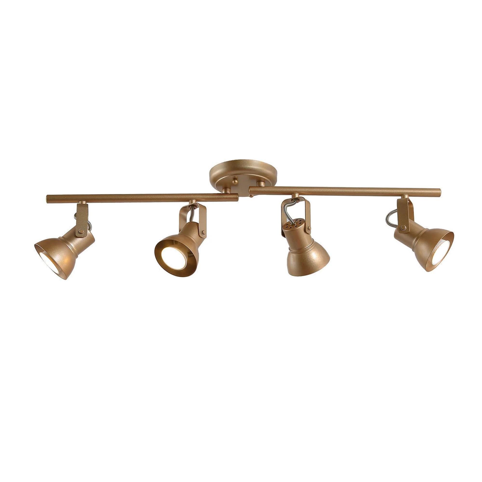 modern adjustable 4 light gold linear ceiling track lights