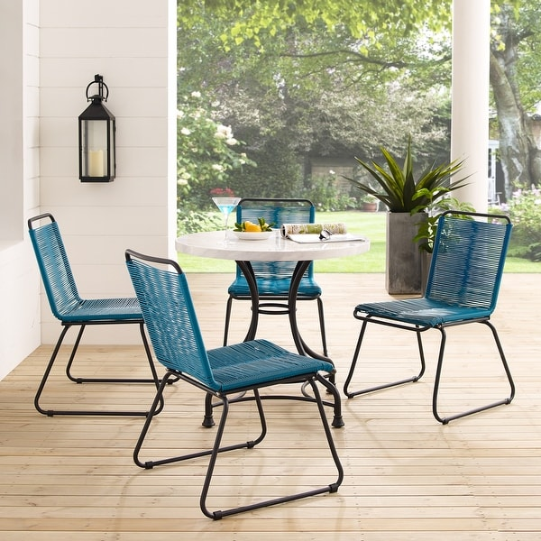sarcelles woven wicker patio dining