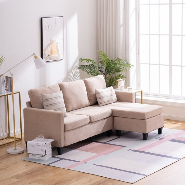 small size mordern l shaped couch